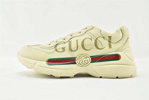 Gucci/古驰 做旧复古老爹鞋/经典 印花字母 机器猫 2021年最新版本  男女鞋  情侣款