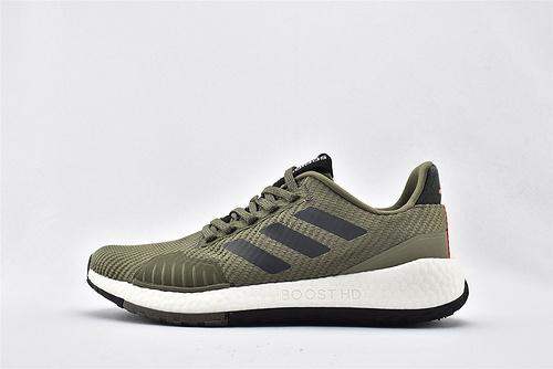 Adidas Pulse BOOST HD WNTR m UB爆米花缓震跑鞋/军绿 原标原盒  货号:FU7324   男鞋