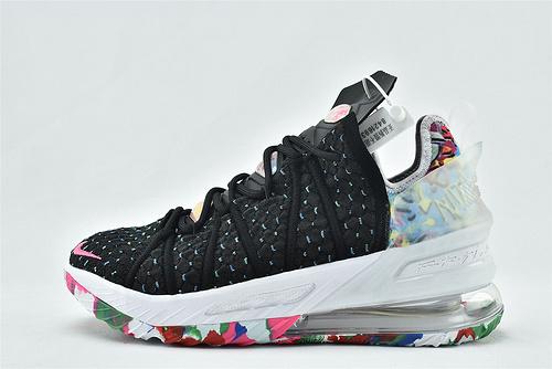 Nike LeBron XVIII EP 勒布朗-詹姆斯篮球鞋/黑彩虹   货号:CQ9283-002  男鞋