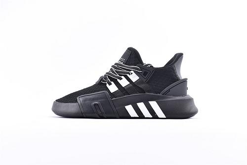 Adidas EQT Bask ADV 复古篮球鞋/黑白 网面  货号:BD7787  男女鞋  情侣款