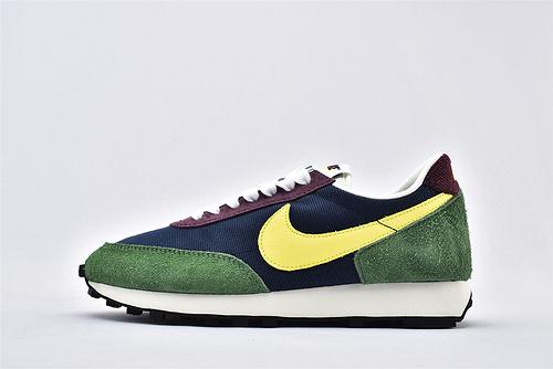 Nike Daybreak 华夫复古跑鞋/牛津布麂皮 深蓝绿  货号:CT3441-400  男女鞋  情侣款