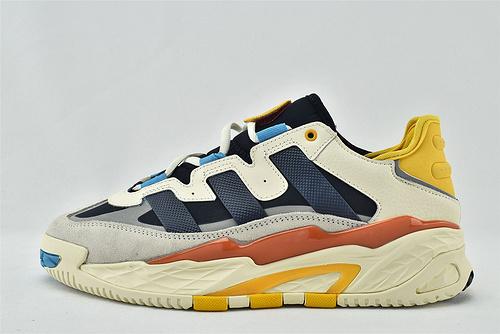 Adidas 三叶草 NITEBALL  2020秋冬复古老爹鞋跑鞋/灰黑黄拼色  货号:FV4842  男女鞋  情侣款