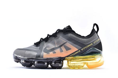 Nike Air VaprMx F1yknit 2019大气垫缓震跑鞋/黑黄  货号:AQ6631-406  男鞋