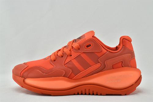 Adidas 三叶草 ZXALKYNEBoost 2020新款爆米花跑鞋/全红 大红色 【180款】 原装版  货号:FV2325  男女鞋  情侣款