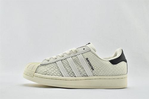 Adidas 三叶草 Superstar 贝壳头板鞋/蛇纹 米黄黑尾  3M反光版 原标原盒  货号:FY5253   男女鞋  情侣款