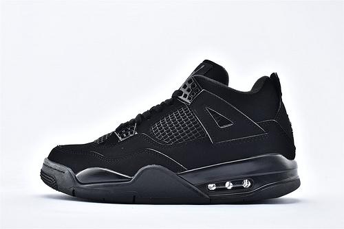 Air Jordan AJ4 乔丹4代篮球鞋/黑武士 黑猫 经典 纯头层  纯原版  货号:CU1110-010  男鞋