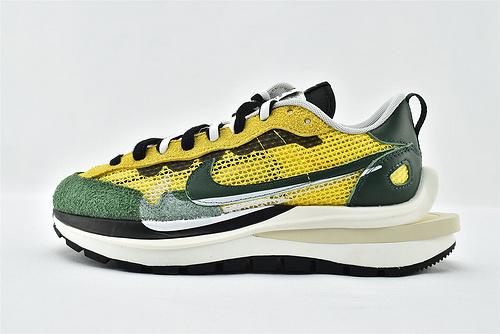 Nike VaporWaffle x Sacai 联名款 华夫3.0跑鞋/黄绿  版  货号:CV1363-700   男女鞋  情侣款