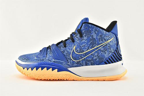 Nike Kyrie 7 Tokyo 欧文7代中帮篮球鞋/蓝橙  灭世版  货号:CQ9327-400  男鞋