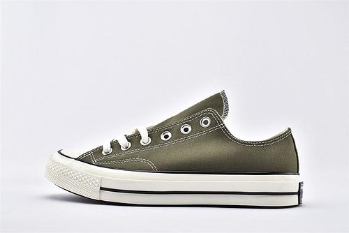 CONVERSE/匡威 1970S 三星黑标低帮滑板鞋/草绿 军绿  过验版  货号:162060C  男女鞋  情侣款
