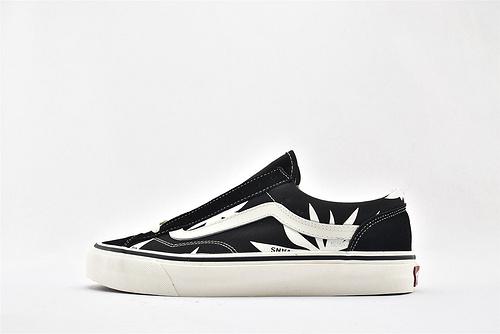 Vans/万斯 STYLE 36 DECON 低帮滑板鞋/黑白 棕榈枫叶 印花 硫化底 原标原盒   男女鞋  情侣款