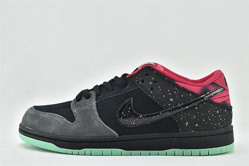 Nike Dunk SB low低帮滑板鞋/北极光 黑粉 银河 夜光版   货号:724183-063   男女鞋  情侣款