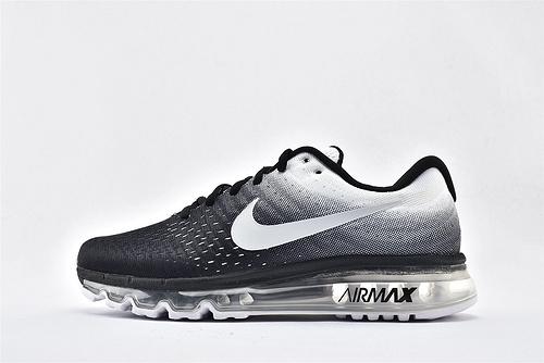Nike Air Max 2017 全掌气垫运动跑鞋/黑白渐变 3M反光logo  货号:849559-010   男鞋