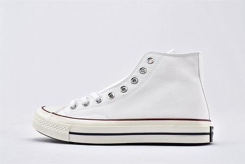 CONVERSE/匡威 1970S 三星黑标高帮滑板鞋/全白 过验版  货号:162056C  男女鞋 情侣款