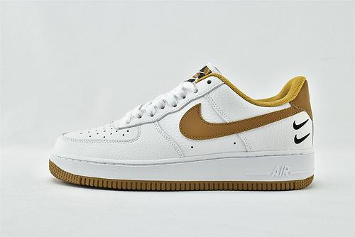 Nike Air Force 1 Low AF1空军一号/低帮   白黄 刺绣双钩  货号:DH2947-100   男女鞋  情侣款
