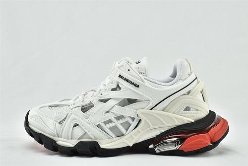 Balenciaga/巴黎世家 4.0系列 复古老爹鞋/2020 镂空网面 白黑红 拼色  纯原版   男女鞋  情侣款