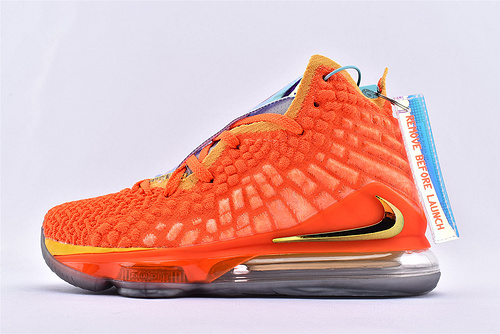 Nike LeBron 17 Bron 2K 詹姆斯17代篮球鞋/镭射橙  货号:BQ3177-916  男鞋