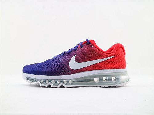 Nike Air Max2017全掌气垫跑鞋/红蓝渐变 货   货号:918092 991  女鞋