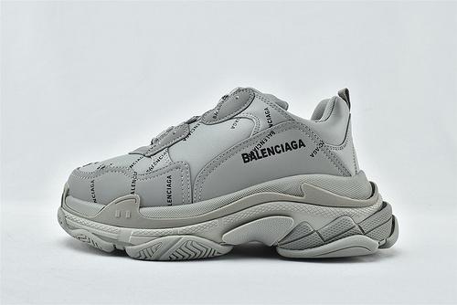 Balenciaga/巴黎世家 1.0 初代 复古老爹鞋/灰色 高级灰 字母款