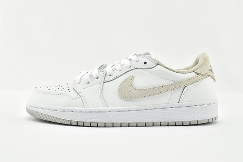 Air Jordan 1 AJ1 Low 乔丹1代低帮篮球鞋/白灰  货号:CZ0775-100  男女鞋  情侣款