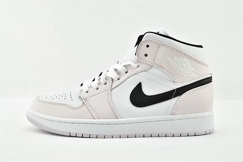 Air Jordan 1 Mid AJ1 乔丹1代中帮篮球鞋/粉白紫罗兰 玫瑰粉  货号:BQ6472-500  男女鞋  情侣款