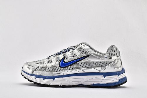 Nike P-6000 复古老爹网面跑鞋/银白蓝  货号:BV1021-001  男女鞋  情侣款