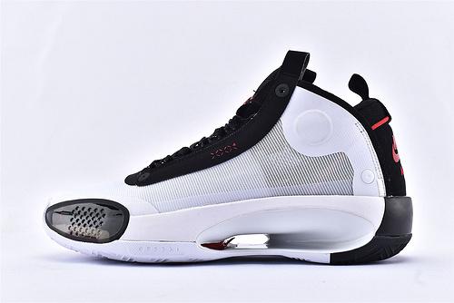 Air Jordan XXXIVPF 34 AJ34 乔丹34代篮球鞋/黑白熊猫 镂空蝉翼轻质 款 实战篮版  货号:BQ3381-100  男鞋