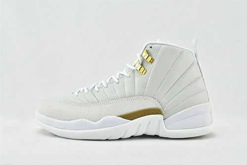 Air Jordan 12 AJ12 x OVO 乔丹12代高帮篮球鞋/联名 白金 白猫头鹰  货号:873864-102   男鞋