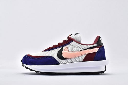 Sacai x Nike LVD Waffle Daybreak 联名走秀款解构高端跑鞋/新华夫童鞋 【白蓝红粉】原装版  货号:BV0073-700  童鞋