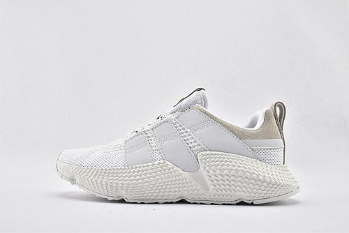 Adidas 三叶草 Prophere 复古跑鞋/刺猬 全白 原盒原标  货号:FW4261  男女鞋  情侣款
