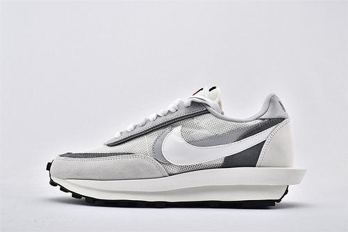 Sacai x Nike LVD Waffle Daybreak 联名走秀款解构高端跑鞋/网纱透明 浅灰白 华夫款  神版  货号:BV0073-100  男女鞋  情侣款