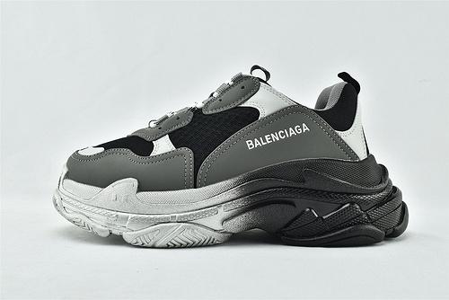 Balenciaga/巴黎世家 1.0 初代 复古老爹鞋/黑灰银  男女鞋  情侣款