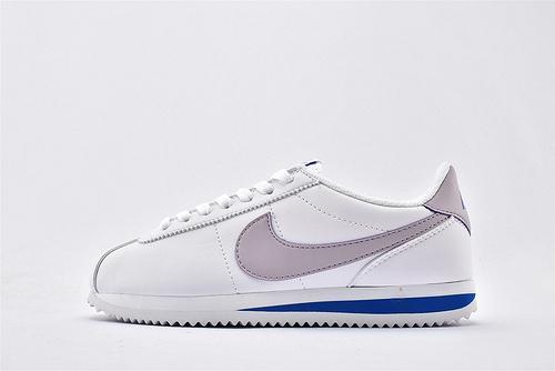 Nike Classic Cortez阿甘系列跑鞋/白浅紫拼色 纯原版  货号:904764-108 女鞋