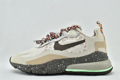 "Nike AirMax 270 React ""BAUHAUS"" 半小掌气垫气垫跑鞋/卡其迷彩 泼墨底   货号:DC3277-181  女鞋"