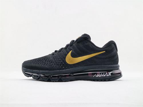 Nike Air Max2017全掌气垫跑鞋/黑金 货  货号:918091 991  男鞋