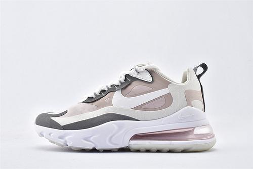 "Nike Air Max 270 React ""BAUHAUS"" 半小掌气垫气垫跑鞋/灰白粉 拼色 泡棉  芯片版  货号:CI3899-500  女鞋"