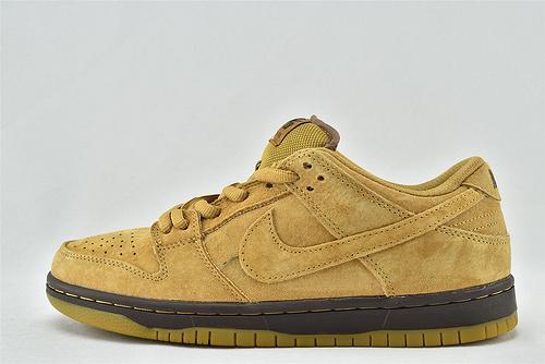 Nike SB Dunk Low Wheat 低帮滑板鞋/小麦色 麦棕  货号:883232-700  男女鞋  情侣款