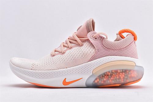 Nike Joyride Run FK2019新款 飞线减震颗粒跑鞋/粉白 软底  货号:AQ2731-601  女鞋