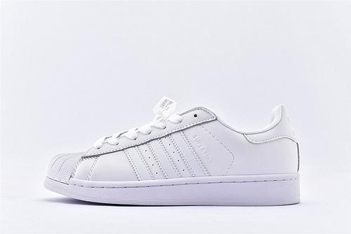 Adidas 三叶草 Superstar 贝壳头系列/纯白  经典款 常青款  货号:B27136  男女鞋  情侣款