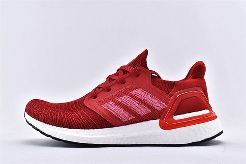 Adidas Ultra Boost UB19 m 爆米花5.0缓震跑鞋/中国红 针织面弹力包裹 高端爆米花大底 马牌鞋底支持  货号:EG0706  男女鞋  情侣款