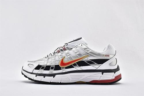 Nike P-6000 复古老爹网面跑鞋/黑白银红  货号:BV1021-101  男女鞋  情侣款