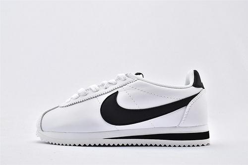 Nike Classic Cortez阿甘系列跑鞋/白黑 经典 纯原版  货号:807471-101  男女鞋 情侣款