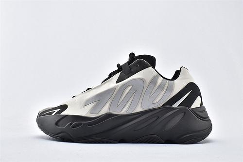 Adidas Yeezy 700 V3 椰子复古老爹鞋系列/黑白 款 3M反光版  货号:FY3729  男女鞋  情侣款