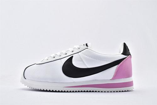 Nike Classic Cortez阿甘系列跑鞋/白黑粉拼色  纯原版  货号:807471-112  女鞋
