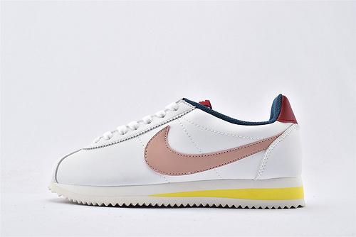 Nike Classic Cortez阿甘系列跑鞋/白粉蓝拼色 纯原版  货号:807471-114  女鞋