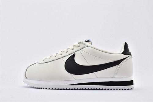 Nike Classic Cortez阿甘系列跑鞋/米白黑拼色  纯原版  货号:905614-111  女鞋
