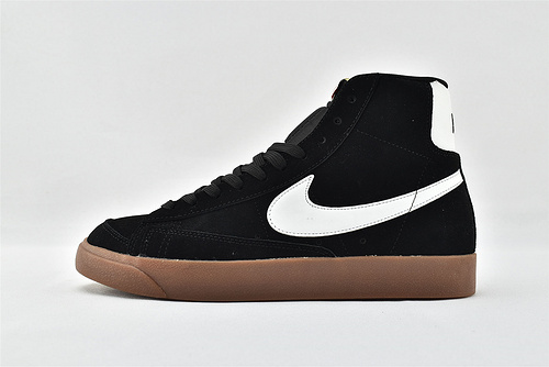 Nike Blazer Mid 77 Vintage 开拓者高帮板鞋/黑白 麂皮 生胶底  货号:DB5461-001  男女鞋  情侣款