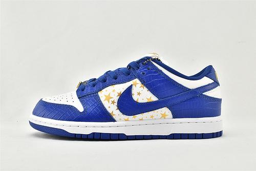 Nike Dunk SB Supreme 低帮滑板鞋/联名 款 白蓝五星  货号:DH3228-100  男女鞋  情侣款