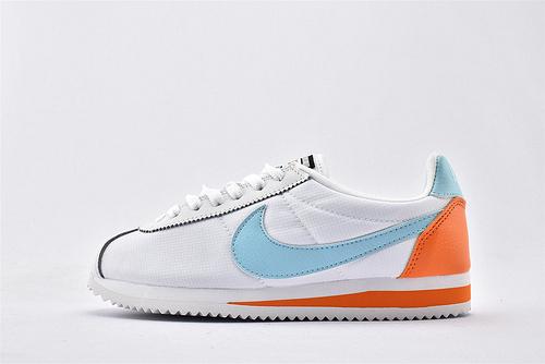 Nike Classic Cortez阿甘系列跑鞋/白蓝橙拼色  纯原版  货号:905614-104  女鞋