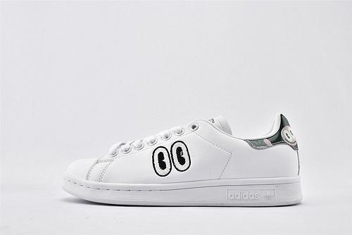 Adidas 三叶草 Stan Smith 史密斯板鞋/全白 大眼睛  经典 头层牛皮 原盒原标  货号:CM8415  女鞋
