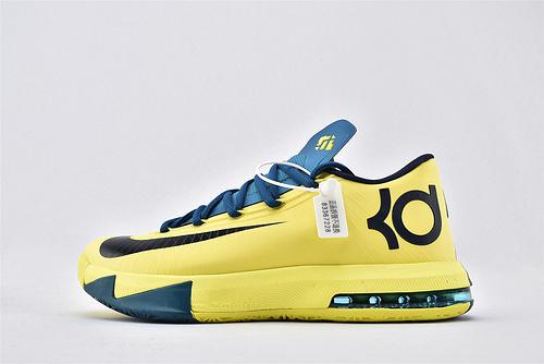 ZOOM KD 6 杜兰特6代篮球鞋/黄黑蓝 【实战版】 纯原版  货号:599424-700  男鞋